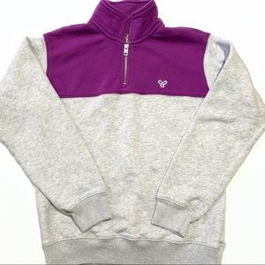 TNA Aritzia Purple & Grey Long Sleeve Sweater